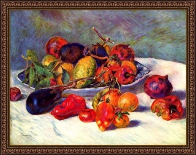 Still Life With Tropical Fruits By Renoir - ArtsNyou Printed Paintings Canvas Art