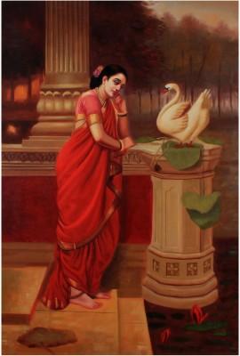Raja Ravi Verma's Painting Of Hamsa Damayanti Canvas Art