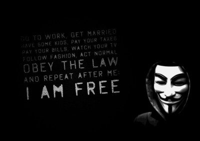 Athah Poster V For Vendetta - I Am Free A4 NON TEARABLE Paper Print Rolled In Cardboard Tube Paper Print