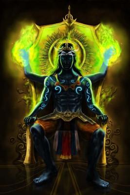 Divine Shiva Blessings Paper Print