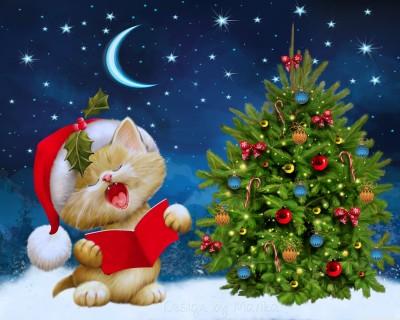 Christmas Carols Poster Paper Print