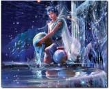 Stybuzz Aquarious Horoscope Frameless Ca...