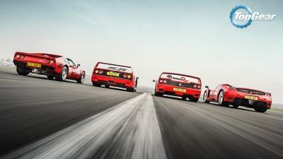 Wall Poster TVShow Top Gear Ferrari 288 Gto Ferrari F50 Ferrari F40 Paper Print