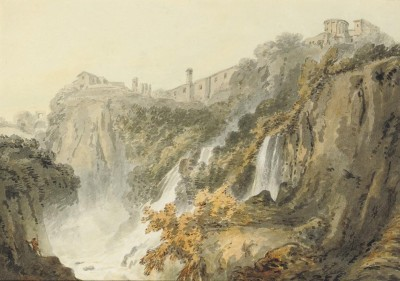 The Museum Outlet The Falls of Tivoli with the Temple of the Sibyl (Medium) Canvas Painting