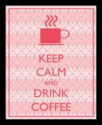 Keep Calm Coffee Framed Wall art With glass Photographic Paper