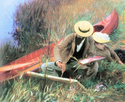 Paul Helleu stands with his wife by John Singer Sargent Fine Art Print
