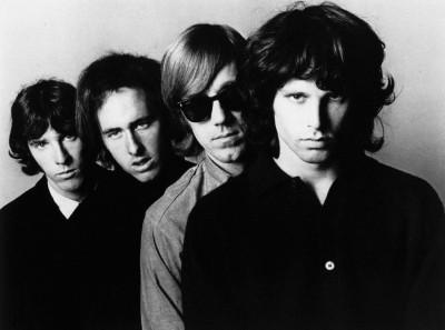Music The Doors Band (Music) United States Rock John Densmore Robby Krieger Ray Manzarek Jim Morrison Black & White Monochrome HD Wall Poster Paper Print