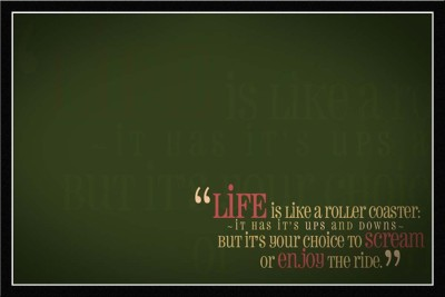 Athah Life Is Like A Roller Coaster Poster Paper Print