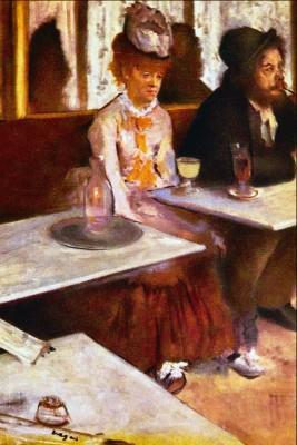 Absinthe Drinkers by Degas Paper Print