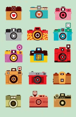 Athah Poster Life is Like A Camera Paper Print