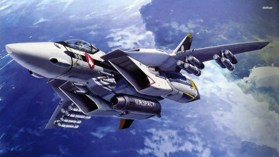 SDF-1 Macross - The Super Dimension Fortress Macross Athah Fine Quality Poster Paper Print