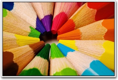 Athah Poster Colorful Pencils Paper Print
