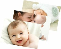 Child's Love - Pack of 3 Cute Baby Posters Paper Print(12 inch X 18 inch, Stretched)
