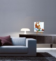 Tallenge Christmas Collection - Christmas Cartoon - Gallery Wrap Canvas Art(7 inch X 7 inch, Stretched) best price on Flipkart @ Rs. 1749