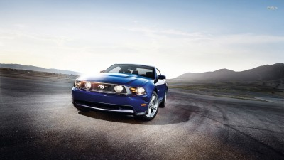 Athah Drifting Ford Mustang GT Poster Paper Print