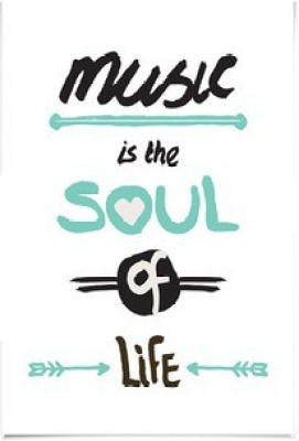 dailyobjects-music-is-the-soul-of-life-small-wall-art-print Paper Print(12 inch X 8 inch)