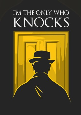 I Am The One Who Knocks - Heisenberg A3 NON TEARABLE High Quality Printed Poster - Wall Art Print (Size : 11.7 x 16.5) , For Bedroom , Living Room, Kitchen, Office, Room Paper Print