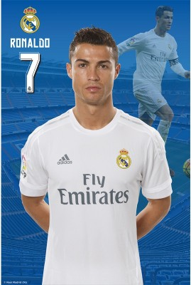 Real Madrid C.F. Mini Poster Ronaldo 35 Paper Print(18 inch X 12 inch, Rolled)