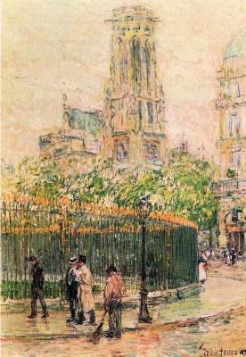 St. Germain l`Auxerrois by Hassam Fine Art Print