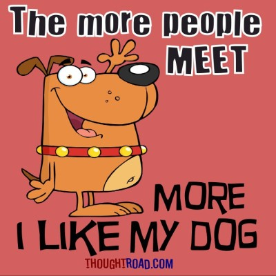 The More People I Meet More I Like My Dog Paper Print