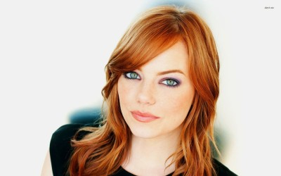 Emma Stone with red hair Athah Fine Quality Frameless Poster Paper Print