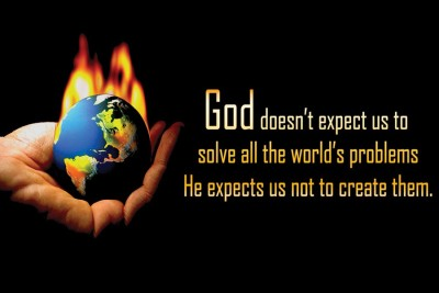 God Doesnt Expect Us To Paper Print