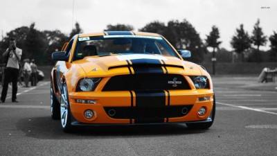 Athah Ford Mustang Shelby GT 500 Poster Paper Print