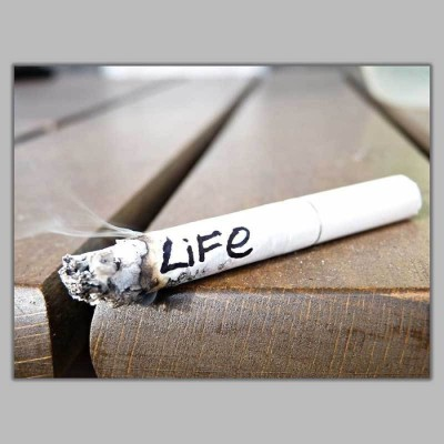Athah Frameless Poster Life Cigarettes Paper Print