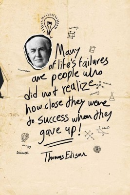Thomas Edison - Failures Success Paper Print(18 inch X 12 inch, Rolled)