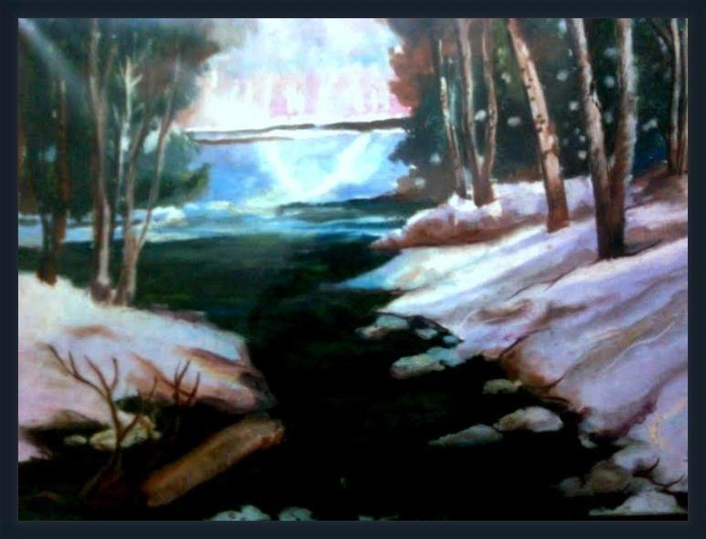 Winter Woods - ArtsNyou Printed Paintings Canvas Art