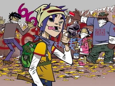 Music Gorillaz Graffiti Jerry_boy Tagging Plastic Beach The Fall HD Wall Poster Paper Print