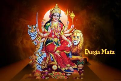 Durga Mata Blessings Paper Print