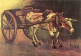 The Museum Outlet Ox carts with brown Ox...