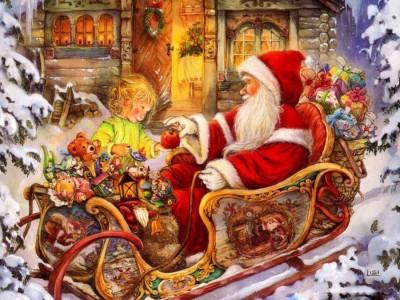 Athah Religious Poster Santa Claus Paper Print