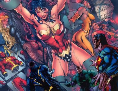 DC Wonder Woman Superman Frameless Fine Quality Poster Paper Print
