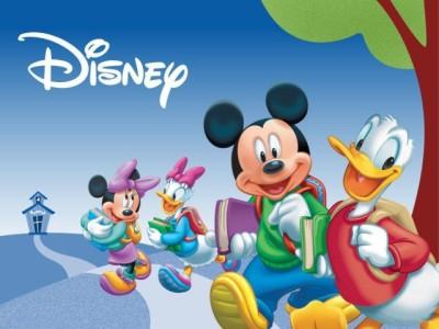 Cartoon Disney Donald Duck With Mikki Mouse Paper Print
