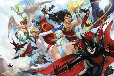 DC Universe Hawkgirl Batgirl Power Girl Wonder Woman Frameless Fine Quality Poster Paper Print