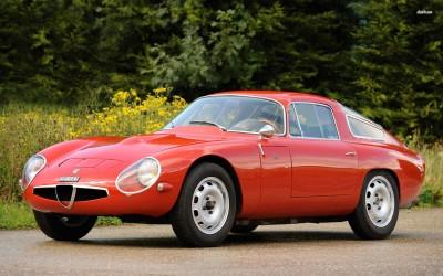 Athah 1963 Alfa Romeo Giulia TZ Poster Paper Print