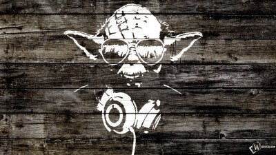 Music Artistic Yoda HD Wall Poster Paper Print