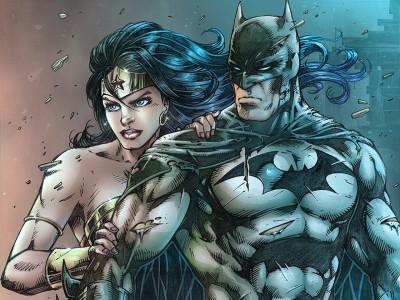Batman Wonder Woman Frameless Fine Quality Poster Fine Art Print