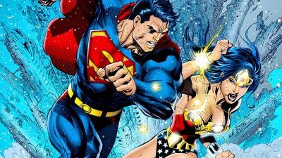 Comics Superman/Wonder Woman HD Wallpaper Background Fine Art Print