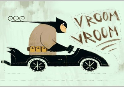 Vroom Poster (18 x 12 Inches) by Shopkeeda Paper Print
