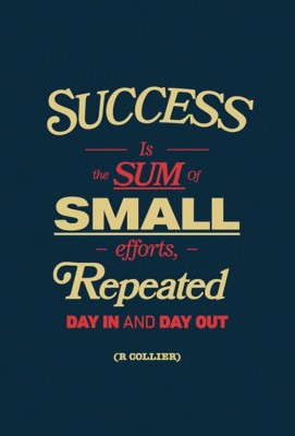 Athah Success Is The Sum Of Small Efforts - R Collier Quote - Motivational Poster Paper Print Paper Print