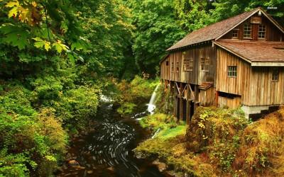 Athah Fine Quality Cedar Creek Grist Mill, Washington poster Paper Print
