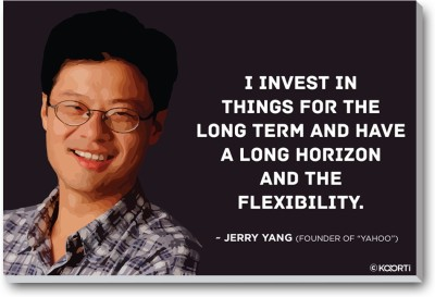 KAARTI I Invest In things For The Long Term - Jerry Yang (Medium) Laminated Framed Paper Print