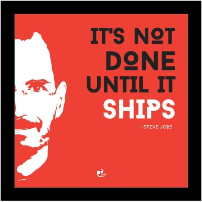 Athah It's not done until it ships - Steve Jobs Apple Poster Photographic Paper Paper Print