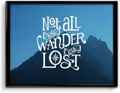 Not All Who Wander are Lost Canvas Art