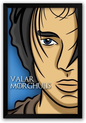 Athah Poster Valar Morghulis Arya Stark Game Of Thrones Poster Inspired Fan Art Poster Paper Print Paper Print