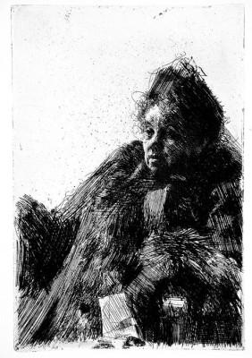 Mme Simon LACMA 83.1.1350h (Medium) Paper Print