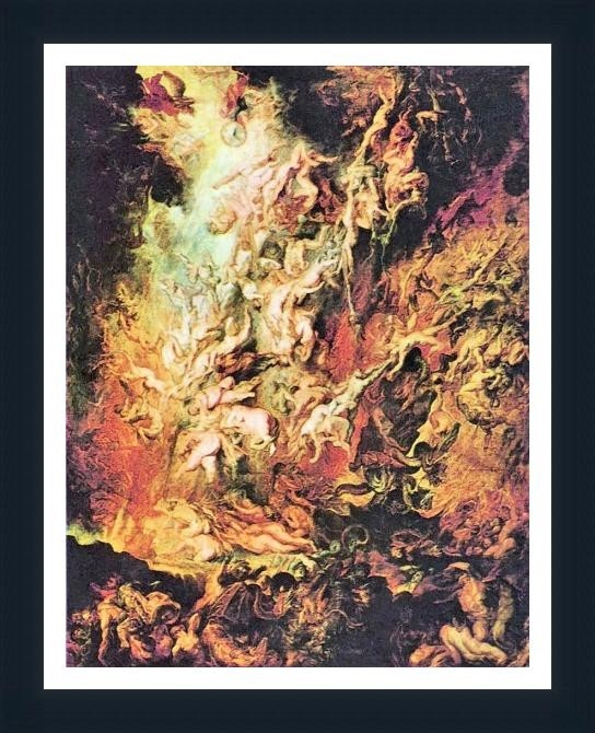 Hell Overthrow Of The Damned By Rubens - ArtsNyou Printed Paintings Canvas Art